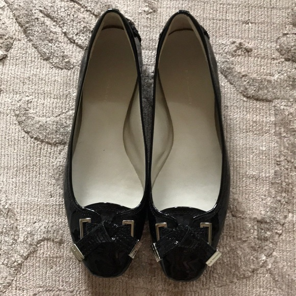 Clothing, Shoes & Accessories Flats box 21 Elie Tahari Mandy Driver Black Patent Leather Ballerina Flats Shoes 37